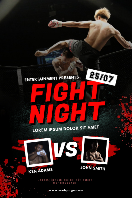 Wrestling Fight Night Flyer Design