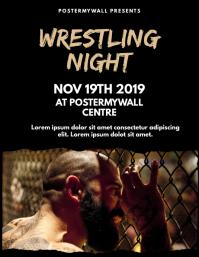 Wrestling Flyer Design Template