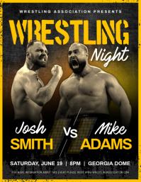 Wrestling Night Flyer template