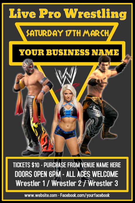 Wrestling Poster Flyer