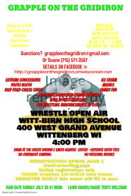 wrestling tournament event poster