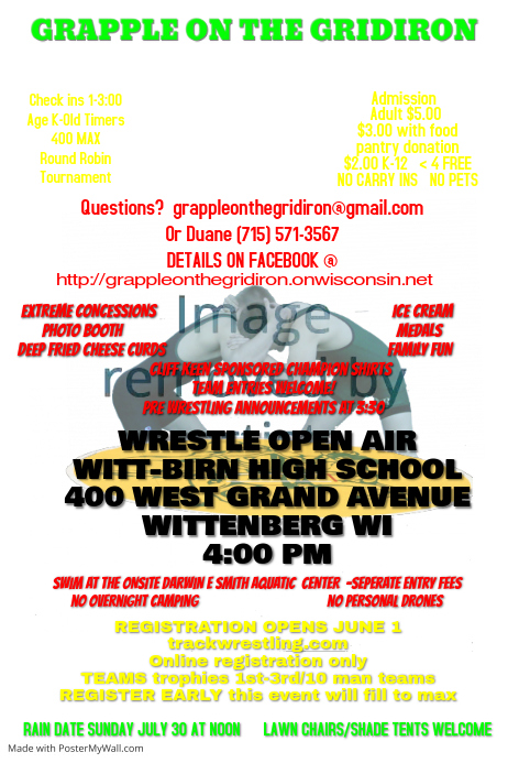 wrestling tournament event poster template postermywall