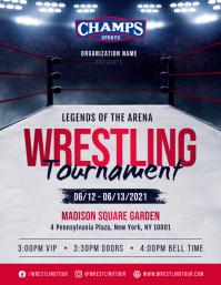 Wrestling Tournament Flyer Ulotka (US Letter) template
