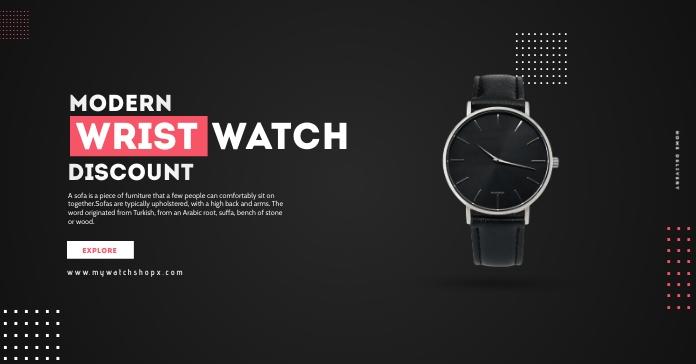 Wrist Watch Shop Advertisement Publicité Facebook template