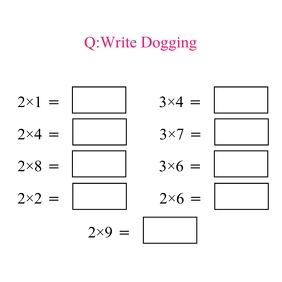 Write Dogging โลโก้ template
