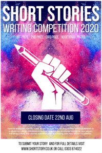 Writing competition poster template