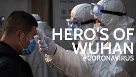 Wuhan Coronavirus Doctors flyer template