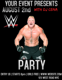 wwe event flyer template