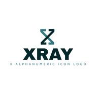 x alphanumeric icon logo template