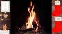 X-MAS FIREPLACE VIDEO WITH SOUND (10 MIN).