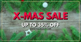 X-Mas Sale sell-out advert christmas shopping banner header template