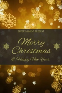 Xmas and happy new year event flyer template