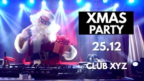 Xmas Christmas Party Santa Dj Funny Video Ad template