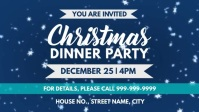 Xmas dinner invite Facebook Cover Video (16:9) template