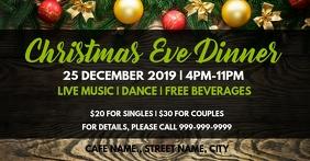 Xmas eve dinner Facebook Event Cover template