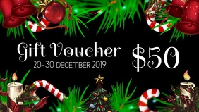 Xmas gift voucher Facebook Cover Video (16:9) template