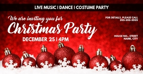 Xmas invite Facebook Event Cover template
