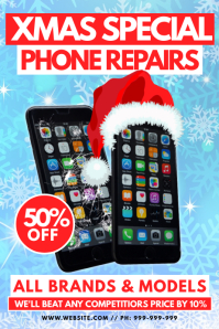 XMas Mobile Phone Repair Poster