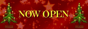 Xmas open now Banner 2' × 6' template