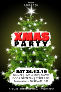 Xmas Party Christmas Event Celebration DJ Ad