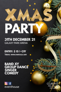Xmas Party Christmas Event Flyer Poster Ad