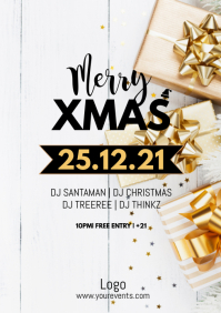 Xmas Party Christmas Event Flyer Poster Ad A4 template
