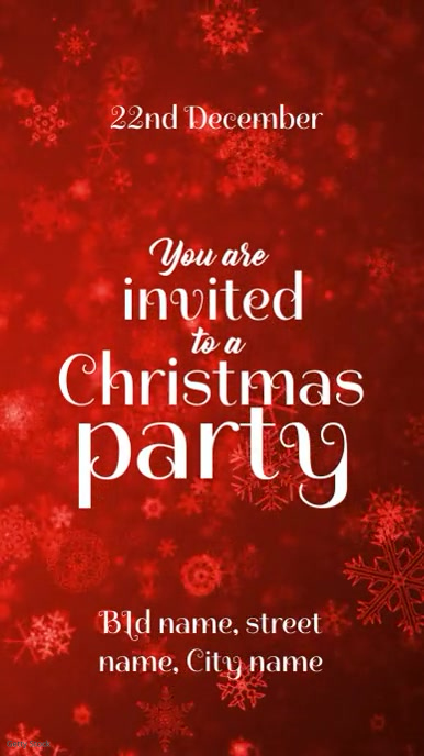 xmas party invite template postermywall
