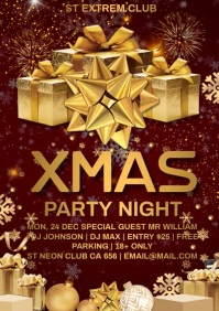 XMAS Party Night A4 template