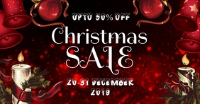 Xmas sale Sampul Acara Facebook template