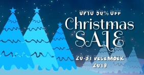 Xmas sale Facebook Event Cover template