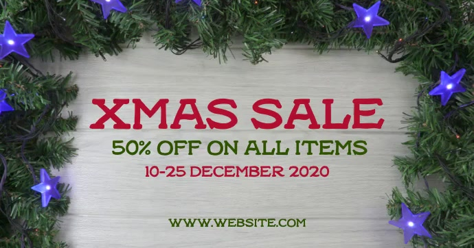 Xmas sale Facebook Shared Image template