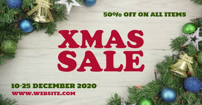 Xmas sale video Facebook Shared Image template