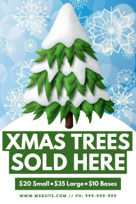 Xmas Trees Sold Here Poster