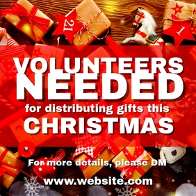 Xmas Volunteers needed