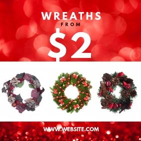 Xmas wreaths Сообщение Instagram template