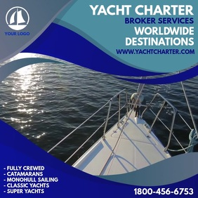 Yacht Charter Services Instagram Template