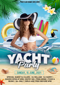 Yacht party A4 template