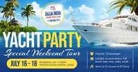Yacht Party Facebook Shared Image template