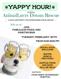 ALDR - Yappy Hour Flyer
