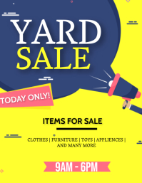 YARD GARAGE SALE AD Flyer Template Pamflet (Letter AS)