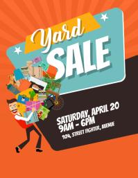 Yard Garage Sale Flyer Poster Folheto (US Letter) template