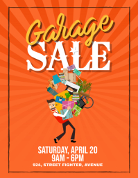 Yard Garage Sale Flyer Poster