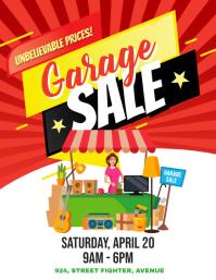 Yard Garage Sale Flyer Poster Folder (US Letter) template