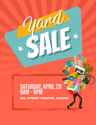 Yard Garage Sale Flyer Poster Pamflet (Letter AS) template