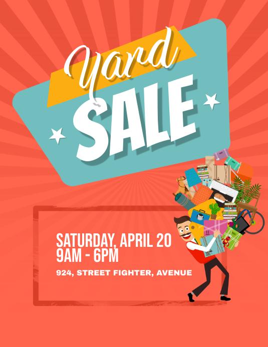 Yard Garage Sale Flyer Poster template