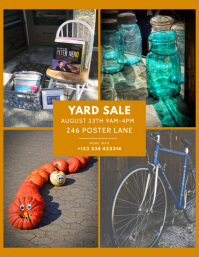 Yard garage Sale flyer template