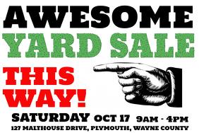 Yard Garage Sale Poster Template