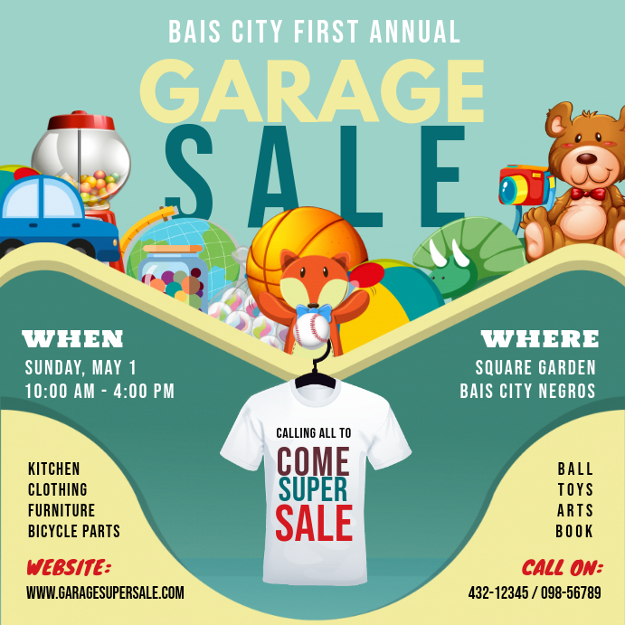 Yard Sale and Clothes Sale Instagram Ad