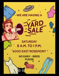 YARD SALE Flyer (US Letter) template