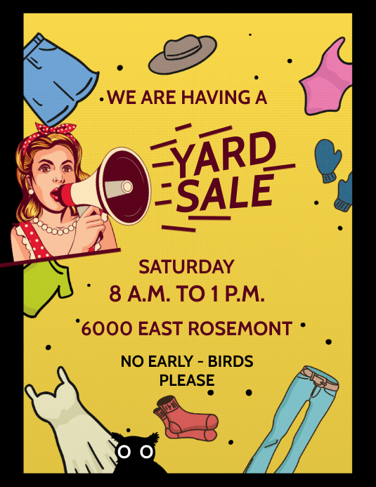 YARD SALE Flyer (US Letter) template